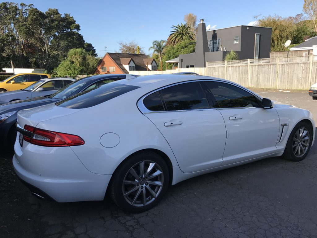 Jaguar XJ tinted windows