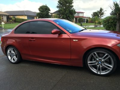 Window tints for red BMW 1 Series