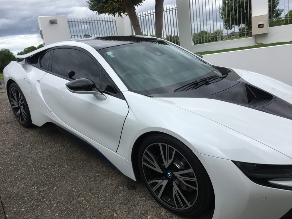 Tinted Windows of BMW i8 Front view