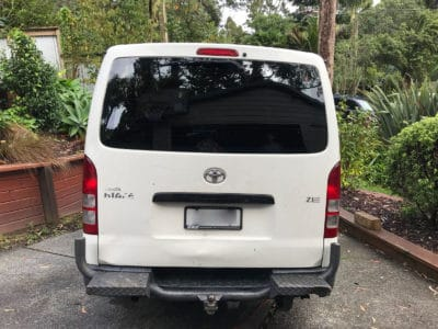 Toyota Hiace 2005 Commercial Window Tinting Auckland