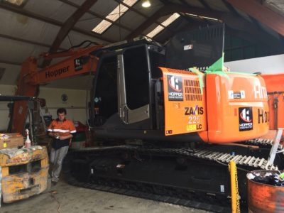Zaxis 225 Digger Commercial Window Tinting Auckland
