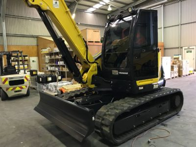Yanmar Digger Commercial Window Tinting Auckland