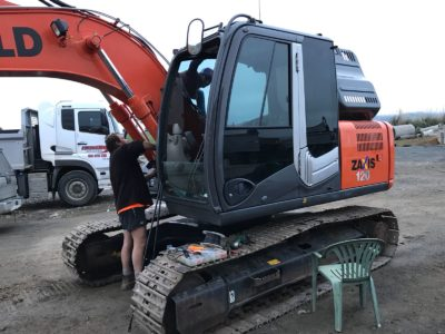 Zaxis Commercial digger tinting auckland