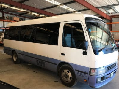 Toyota Coaster 2006 Car Window Tinting