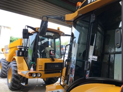 Hydrema Digger Commercial Window Tinting Auckland
