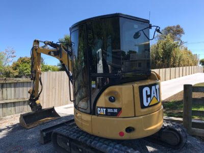 CAT 303.5E CR Digger Windows Tinted Auckland