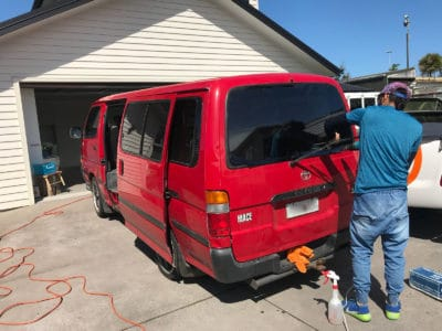 TOYOTA HIACE 1992 Windows Tinted Auckland