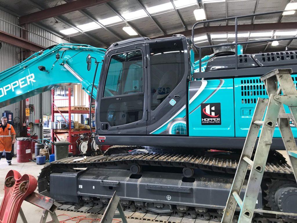 Kobelco Digger Machine Tinting Auckland