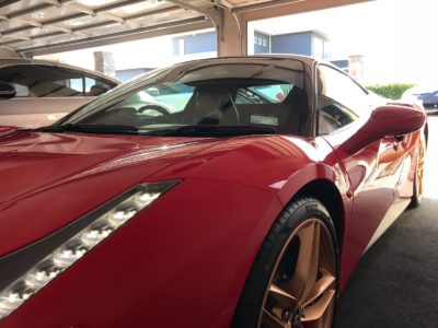 Ferrari 488 window tinting -front view