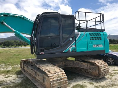 Kobelco SK210 Commercial Tinting Auckland