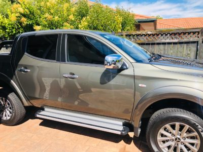Window tinting for Mitsibushi Triton Ute