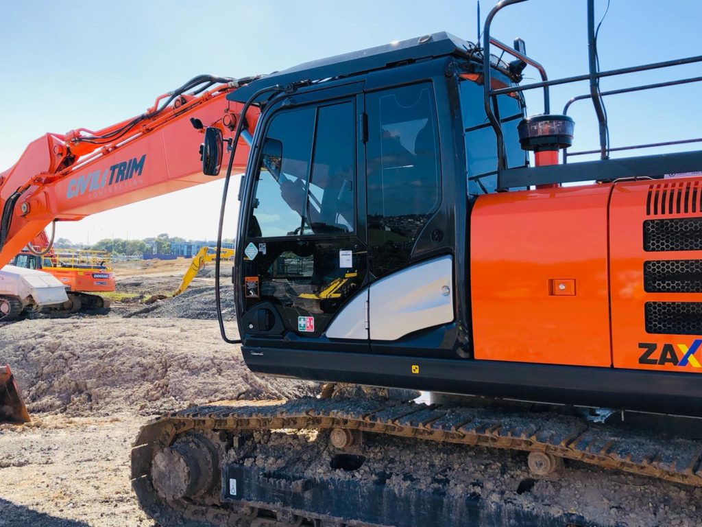 Window tinting for Hitachi ZAxis 55U digger